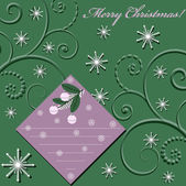 Abstract vector illustration of Christmas greeting card — 图库矢量图片