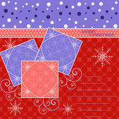 Abstract vector illustration of Christmas greeting card — Stok Vektör