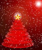 Abstract vector illustration weihnachten weihnachtsbaum — Stockvektor