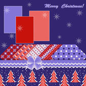 Abstract vector illustration of Christmas greeting card — Vettoriale Stock