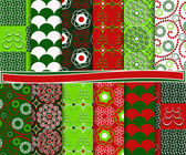 Abstract vector navidad set de papel para scrapbook — Vector de stock