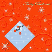 Abstract vector illustration of Christmas greeting card — Stock Vector