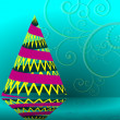 Abstract Christmas vector illustration Christmas tree — Stockvektor #34841085