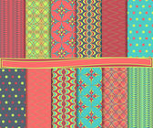 Abstract vector set of paper for scrapbook — Stockvector