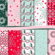 Abstract Christmas vector set of paper for scrapbook — Stock Photo