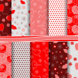 Abstract vector set of scrapbook paper Valentine's Day — Grafika wektorowa