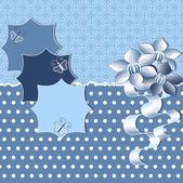 Abstrakte vektor-illustration floral grußkarte — Stockvektor