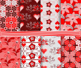 Abstract vector set of paper for scrapbook Valentine's Day — Stockvector