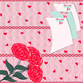 Vector illustration greeting card Valentine's Day — Cтоковый вектор