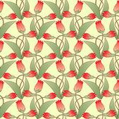 Abstract vectorillustratie met bloemen — Stockvector