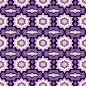 Sömlös vektor illustration med abstrakt blommor — Stockvektor