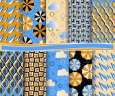 抽象的なベクトル要素雨とスクラップ ブックの用紙のセット — ストックベクタ
