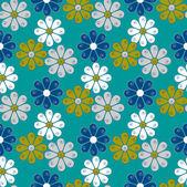 Dikişsiz soyut çiçek vektör çizim — Stok Vektör