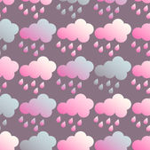 Abstract vector illustration with clouds and rain — ストックベクタ