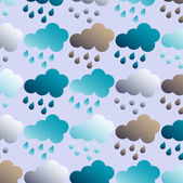 Abstract vector illustration with clouds and rain — 图库矢量图片