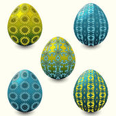 Vector illustration set of easter eggs — Stock Vector