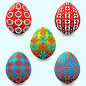 Vector illustration set of easter eggs — Stockvektor