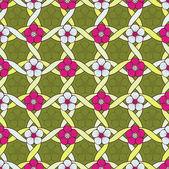 花の抽象的なベクトル イラスト — ストックベクタ