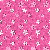 Fondo de ilustración vectorial de flores abstractas — Vector de stock