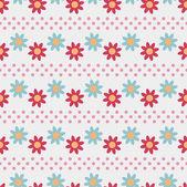Illustration vectorielle floral abstrait continue — Vecteur