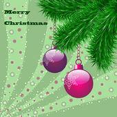Christmas abstract vector illustration greeting card  — Stockvektor