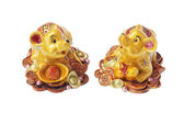 Chinese New Year Ornaments Golden Rats — Stock Photo