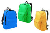 Tři batohy — Stock fotografie