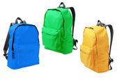 Tre ryggsäckar — Stockfoto