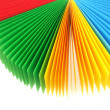 Color Memo Paper Fan — Photo