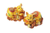 Chinese Golden Rat Ornaments — Stock Photo