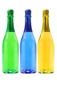 Three Bottles Of Carbonated Drinks — Stock Photo