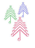 Candy Canes Christmas Trees — Stockfoto