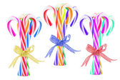 Bundles of Colorful Candy Canes — Stock Photo