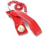 Red Telephone Handset — Stock Photo