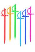 Spiedini colorati di plastica — Foto Stock