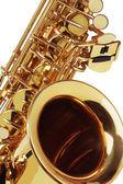 Close-up de saxofone — Foto Stock