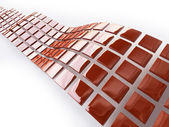 Illustration of Metallic Cubes in Red and White — Stock Photo