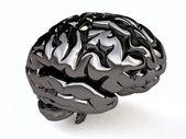 Metallic Human Brain — Stock Photo