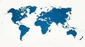 World Map in Blue — Stock Photo