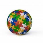 Jigsaw Puzzle Ball — Stock Photo