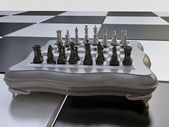 Chess Set on Chess on the Chessboard — Stock Photo