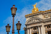Opera building and a lamp in Paris — Stock Photo