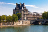 Old building at seine in Paris — Stock Photo