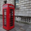 Red phone booth in London — Stock Photo