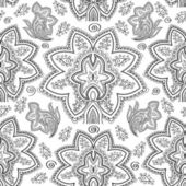 Seamless paisley pattern. Hand drawn background — Stock Vector