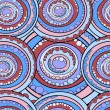 Seamless abstract circles pattern — Stock Photo