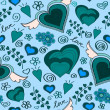 Royalty-Free Stock Photo: Hand drawn seamless hearts pattern