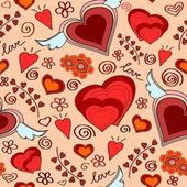 Seamless hearts pattern — Stock Photo