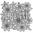Dream. Hand drawn illustration — Stock Photo