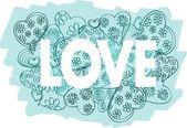 Love. Hand drawn illustration — Stock Photo